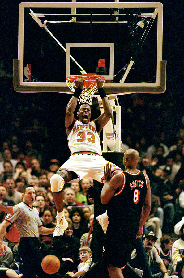 New York Knicks Patrick Ewing Does A Photograph by New York Daily News Archive