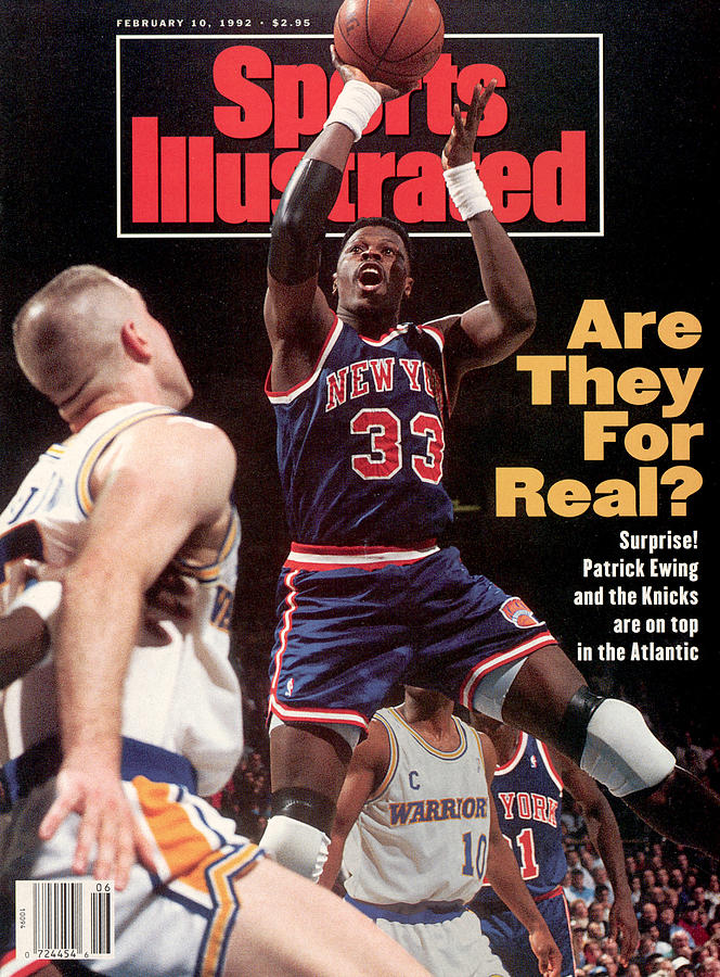 New York Knicks Patrick Ewing... Sports Illustrated Cover Photograph by Sports Illustrated