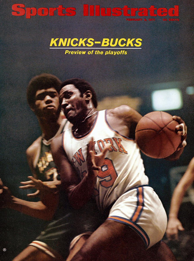 New York Knicks Willis Reed And Milwaukee Bucks Lew Alcindor Sports Illustrated Cover Photograph by Sports Illustrated