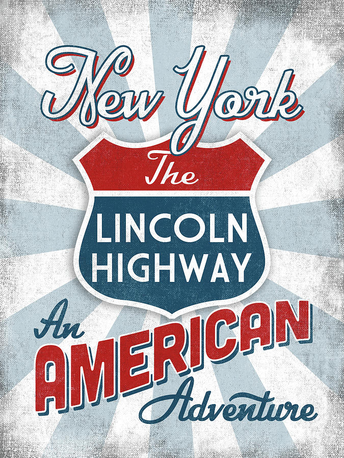 New York Digital Art - New York Lincoln Highway America by Flo Karp