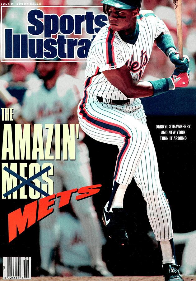 New York Mets Darryl Strawberry... Sports Illustrated Cover Photograph by Sports Illustrated