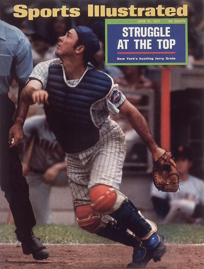 New York Mets Jerry Grote... Sports Illustrated Cover Photograph by Sports Illustrated