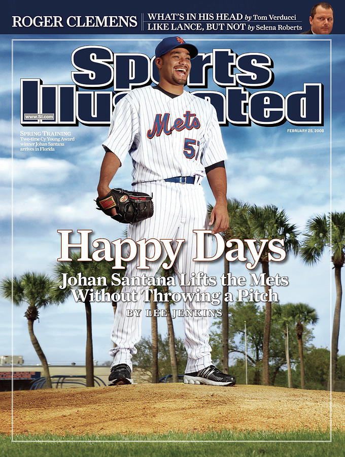 New York Mets Johan Santana Sports Illustrated Cover Photograph by Sports Illustrated