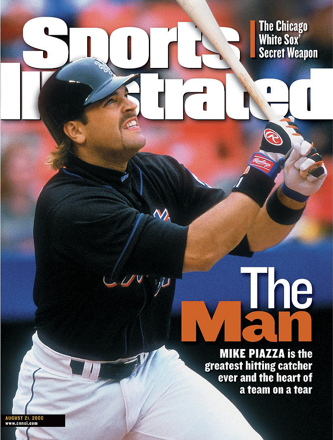 New York Mets Mike Piazza... Sports Illustrated Cover Photograph by Sports Illustrated