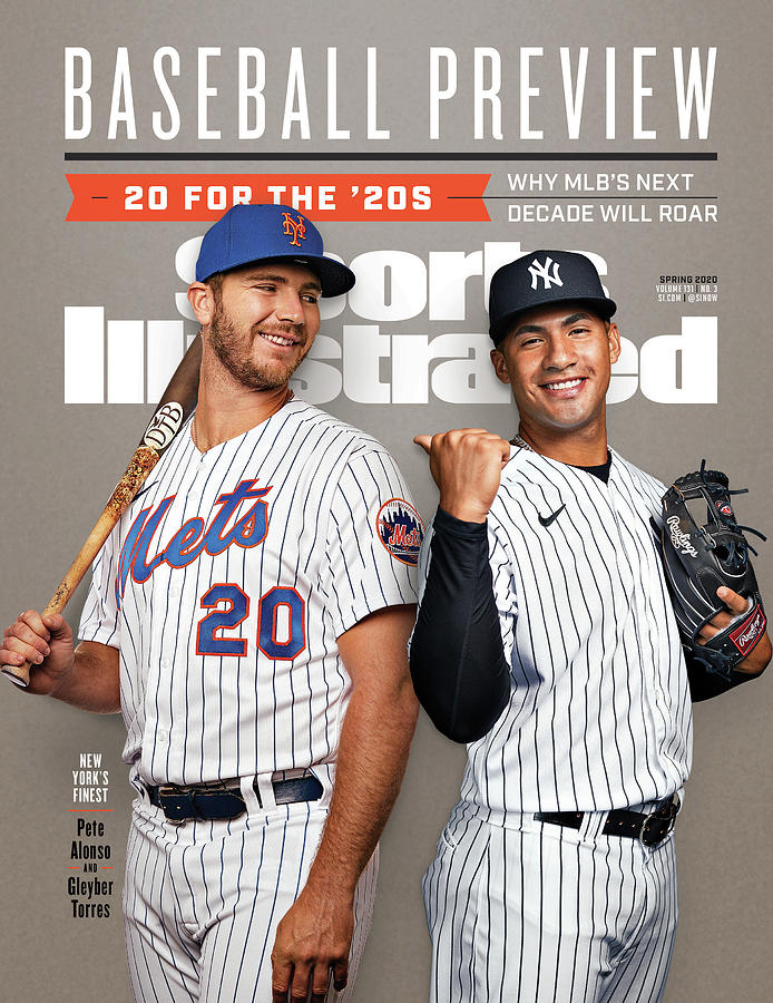New York Mets Pete Alonso And New York Yankees Gleyber Sports Illustrated Cover Photograph by Sports Illustrated