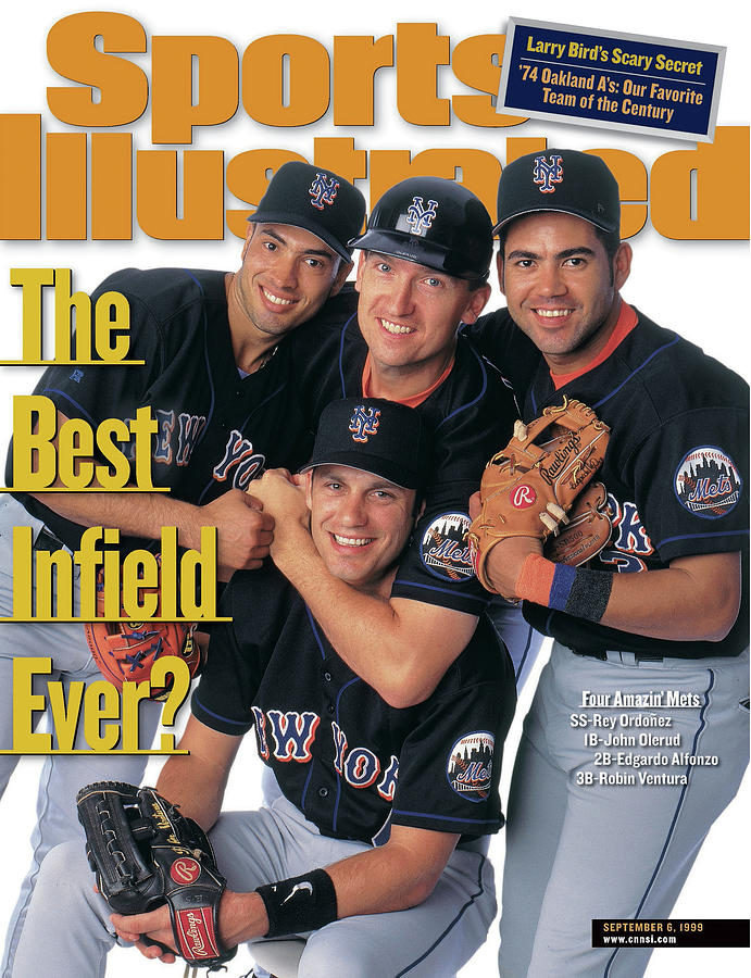 New York Mets The Best Infield Ever Sports Illustrated Cover Photograph by Sports Illustrated