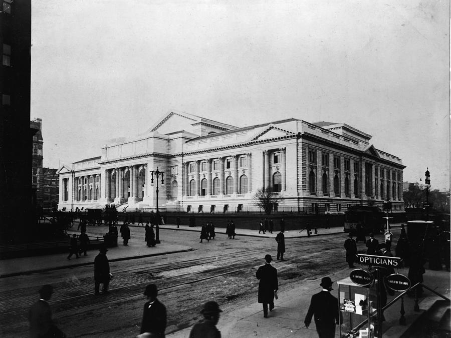 New York Public Library Main Branch Photograph by Fpg