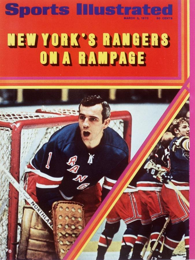 New York Rangers Goalie Ed Giacomin And Jean Ratelle Sports Illustrated Cover Photograph by Sports Illustrated