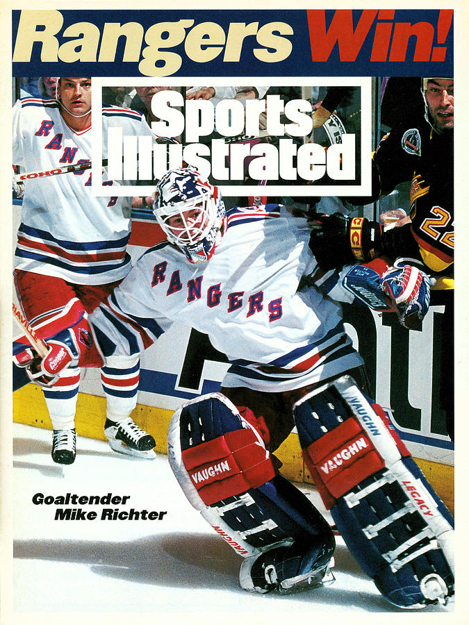New York Rangers Goalie Mike Richter, 1994 Nhl Stanley Cup Sports Illustrated Cover Photograph by Sports Illustrated