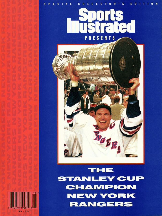 New York Rangers Mark Messier, 1994 Nhl Stanley Cup Finals Sports Illustrated Cover Photograph by Sports Illustrated