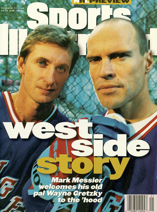 New York Rangers Mark Messier And Wayne Gretzky Sports Illustrated Cover Photograph by Sports Illustrated
