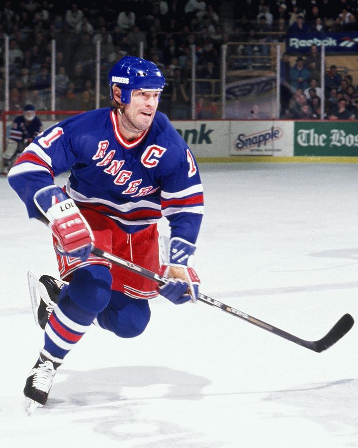 New York Rangers V Boston Bruins Photograph by Steve Babineau