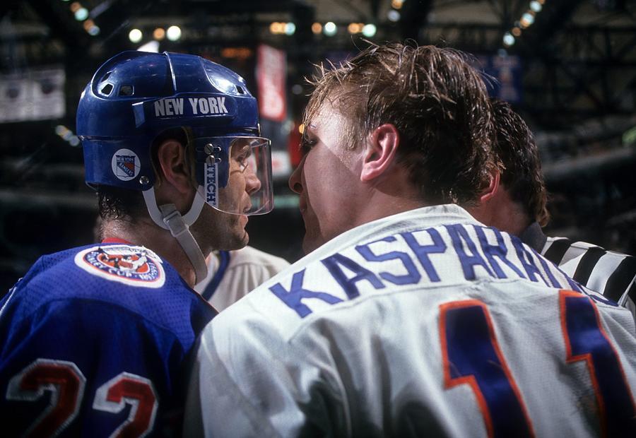 New York Rangers V New York Islanders Photograph by B Bennett