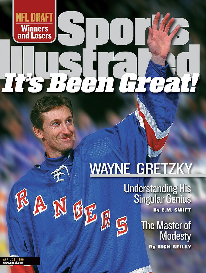 New York Rangers Wayne Gretzky Sports Illustrated Cover Photograph by Sports Illustrated
