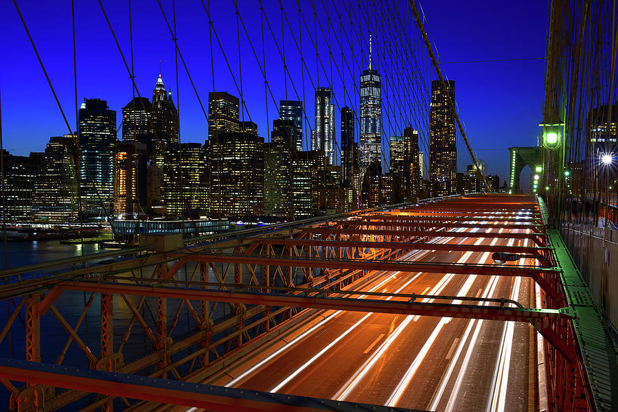 New York Skyline from the Brooklyn Bridge by Clint Buhler