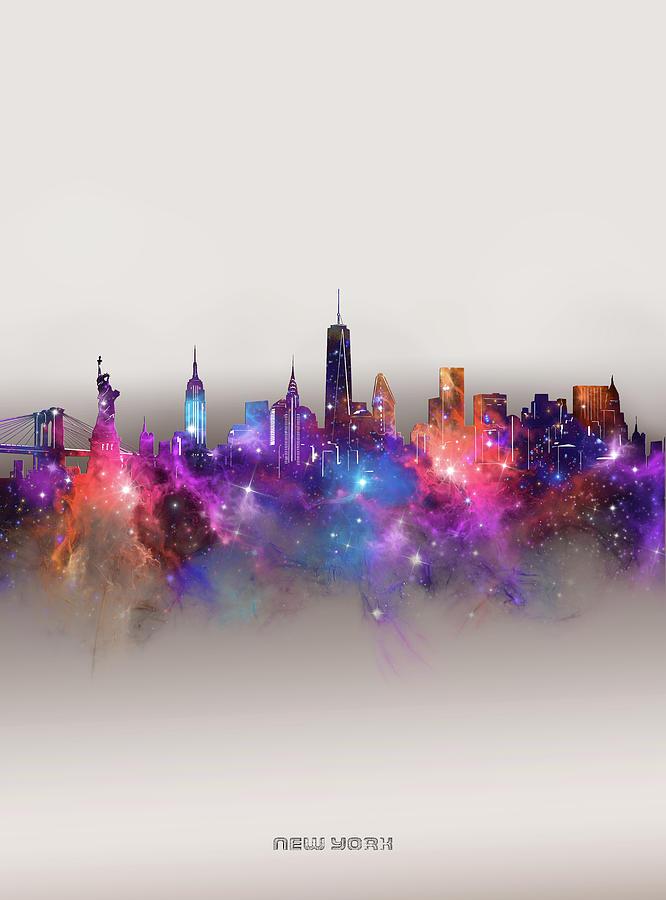 New York Digital Art - New York Skyline Galaxy by Bekim M