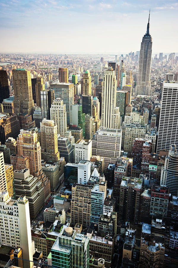 New York Skyline Summertime View Photograph by Mlenny