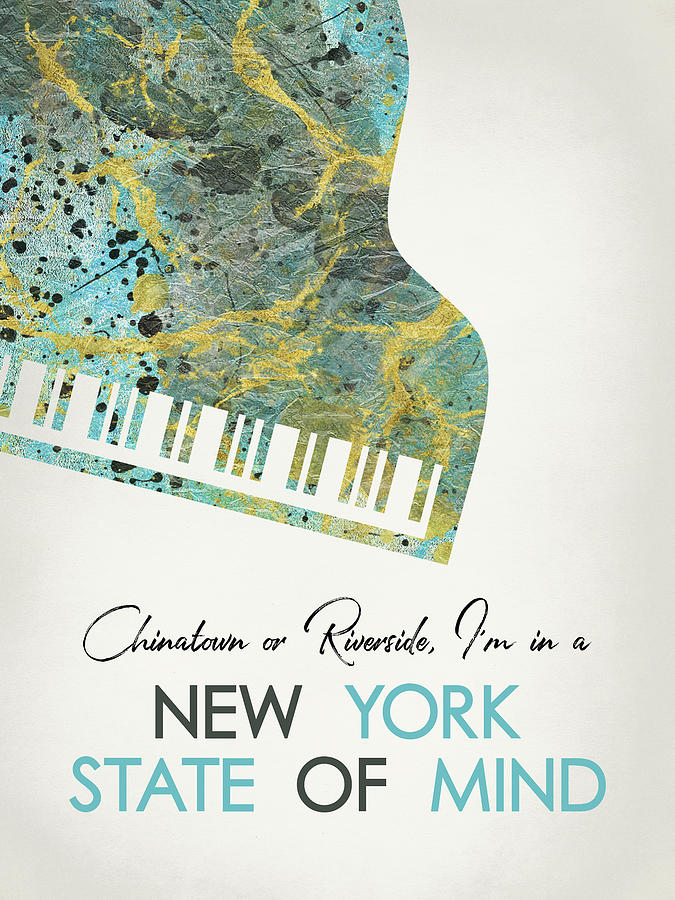 Billy Joel Digital Art - New York State Of Mind  - Piano by Flo Karp