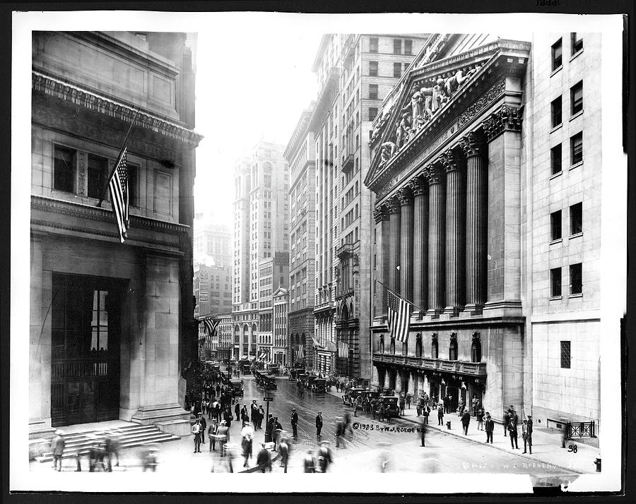 New York Stock Exchange And Broad Street Photograph by The New York Historical Society