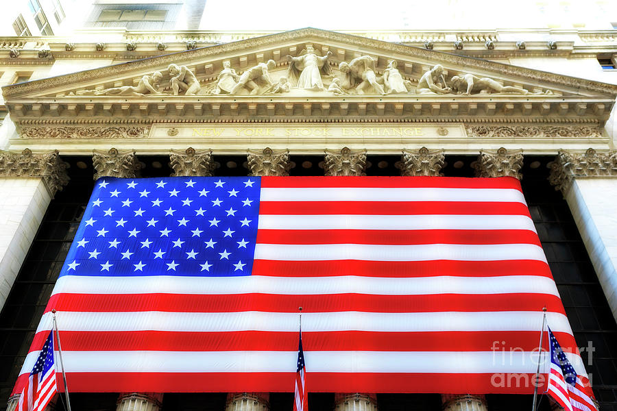 Glow Photograph - New York Stock Exchange Glow by John Rizzuto