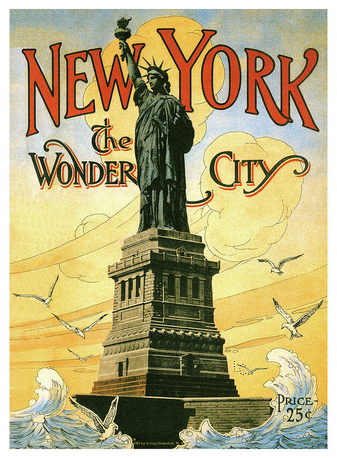 The Wonder City New York NY    Vintage Looking  Travel Decal Sticker