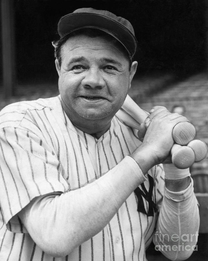 New York Yankee Babe Ruth Photograph by Bettmann