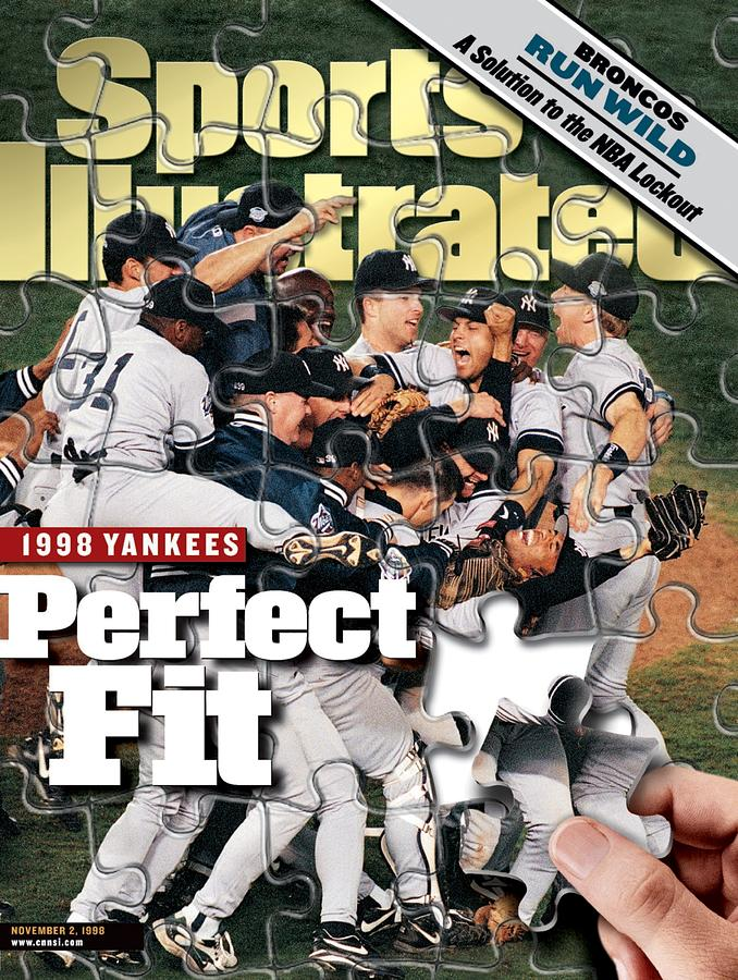 New York Yankees, 1998 World Series Sports Illustrated Cover Photograph by Sports Illustrated