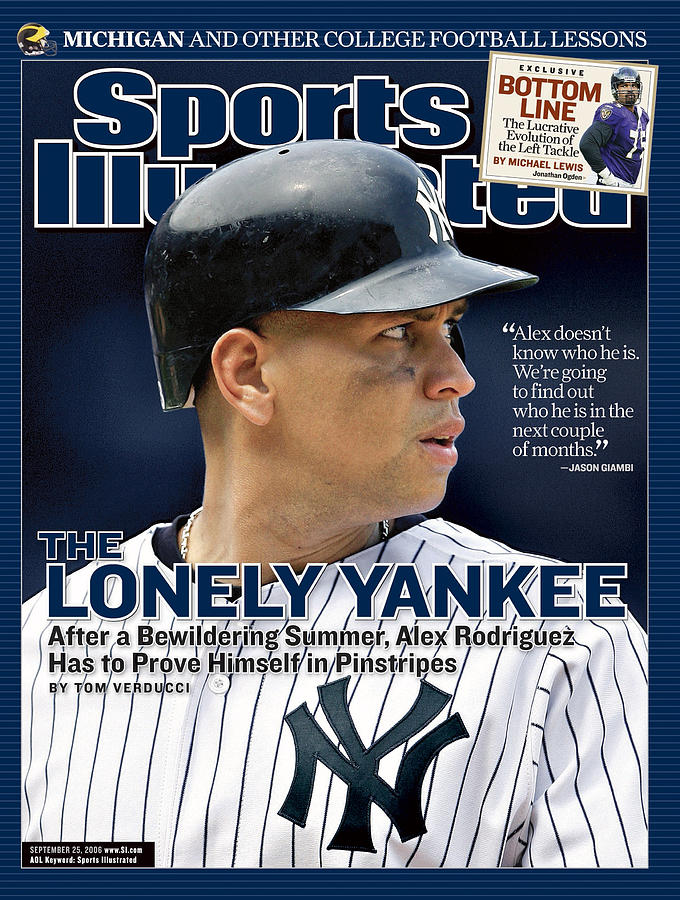 New York Yankees Alex Rodriguez Sports Illustrated Cover Photograph by Sports Illustrated