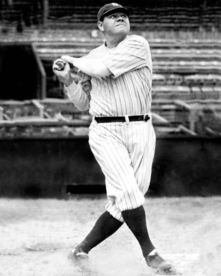 New York Yankees Babe Ruth Swinging His Photograph by New York Daily News Archive
