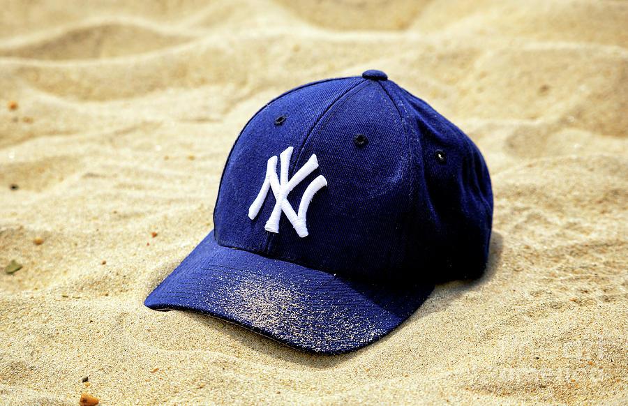 Nj Photograph - New York Yankees Beach Cap by John Rizzuto