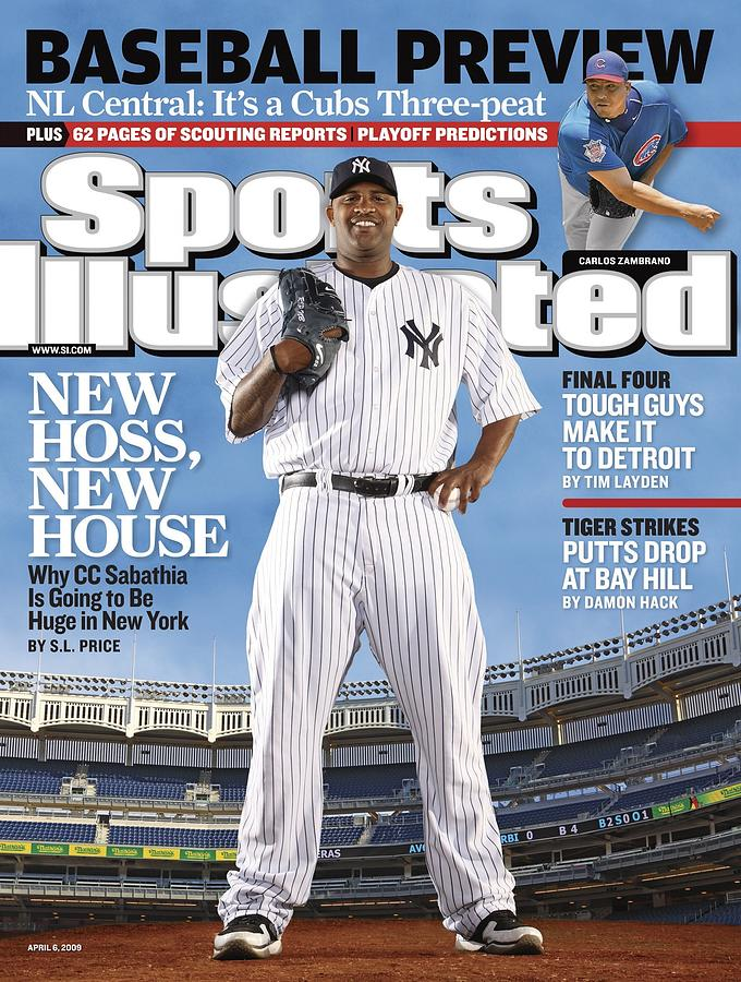 New York Yankees Cc Sabathia Sports Illustrated Cover Photograph by Sports Illustrated