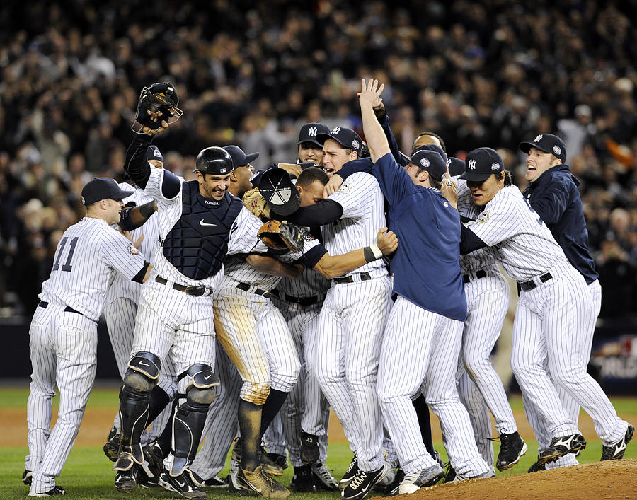 New York Yankees Celebrate After Photograph by New York Daily News Archive