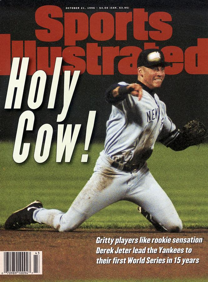 New York Yankees Derek Jeter, 1996 Al Championship Series Sports Illustrated Cover Photograph by Sports Illustrated