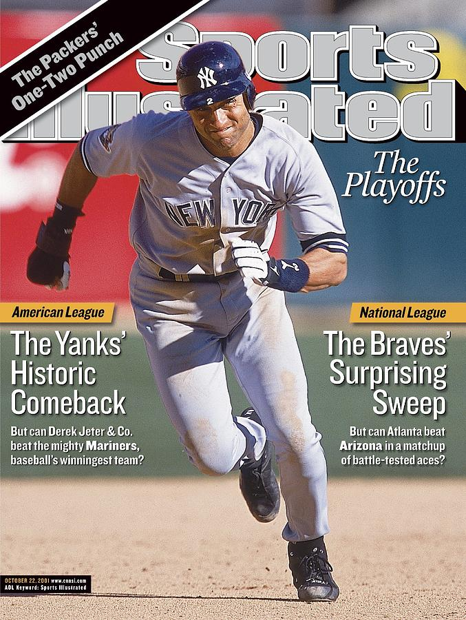 New York Yankees Derek Jeter, 2001 Al Division Series Sports Illustrated Cover Photograph by Sports Illustrated