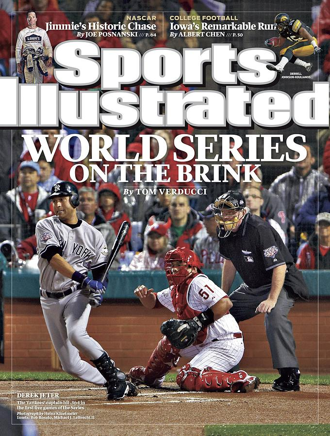 New York Yankees Derek Jeter, 2009 World Series Sports Illustrated Cover Photograph by Sports Illustrated