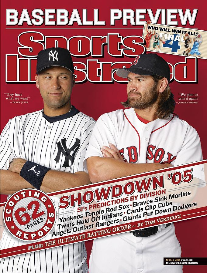 New York Yankees Derek Jeter And Boston Red Sox Johnny Damon Sports Illustrated Cover Photograph by Sports Illustrated