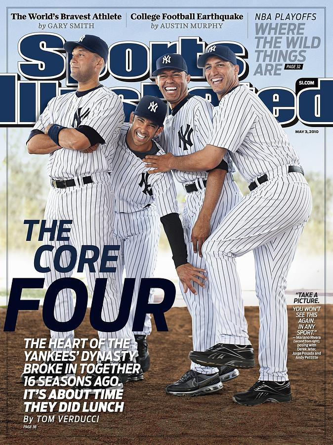 New York Yankees Derek Jeter, Jorge Posada, Mariano Rivera Sports Illustrated Cover Photograph by Sports Illustrated