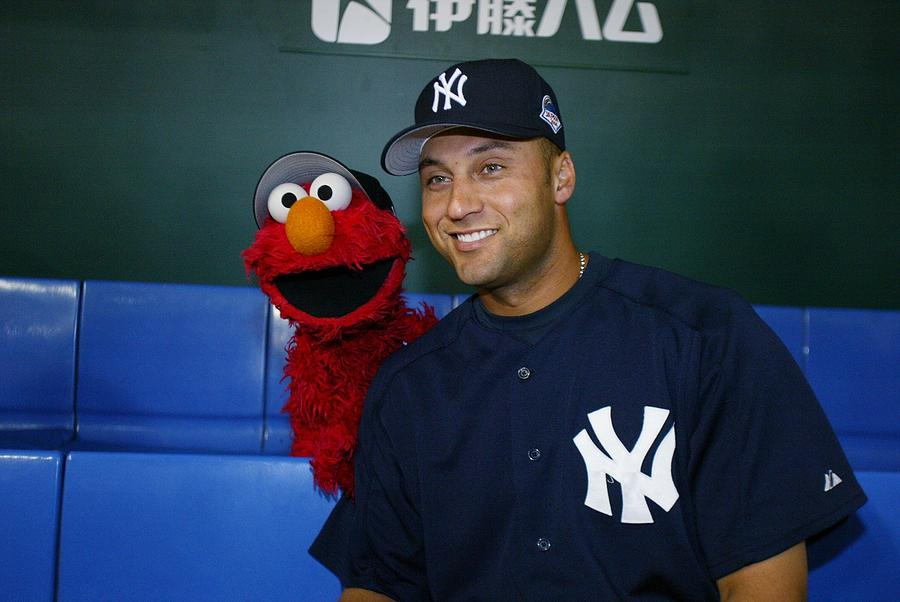 New York Yankees Derek Jeter Relaxes In Photograph by New York Daily News Archive