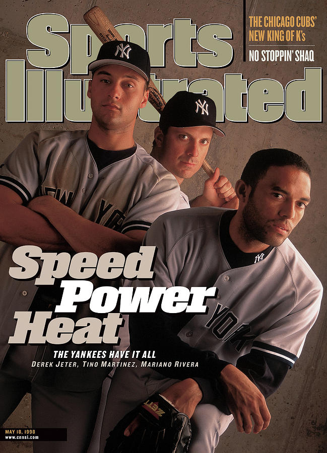 New York Yankees Derek Jeter, Tino Martinez, And Mariano Sports Illustrated Cover Photograph by Sports Illustrated