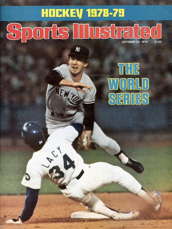 New York Yankees Fred Stanley, 1978 World Series Sports Illustrated Cover Photograph by Sports Illustrated