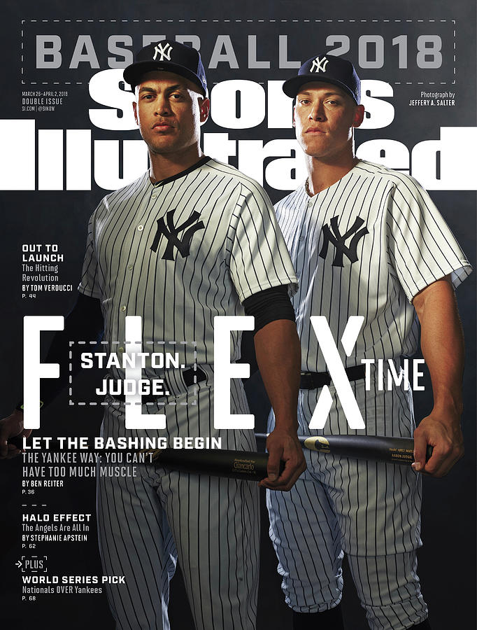 New York Yankees Giancarlo Stanton And Aaron Judge,  2018 Sports Illustrated Cover Photograph by Sports Illustrated