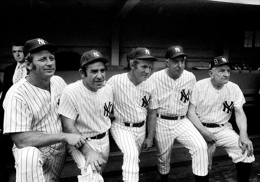 New York Yankees Hall Of Famers At Old Photograph by New York Daily News Archive