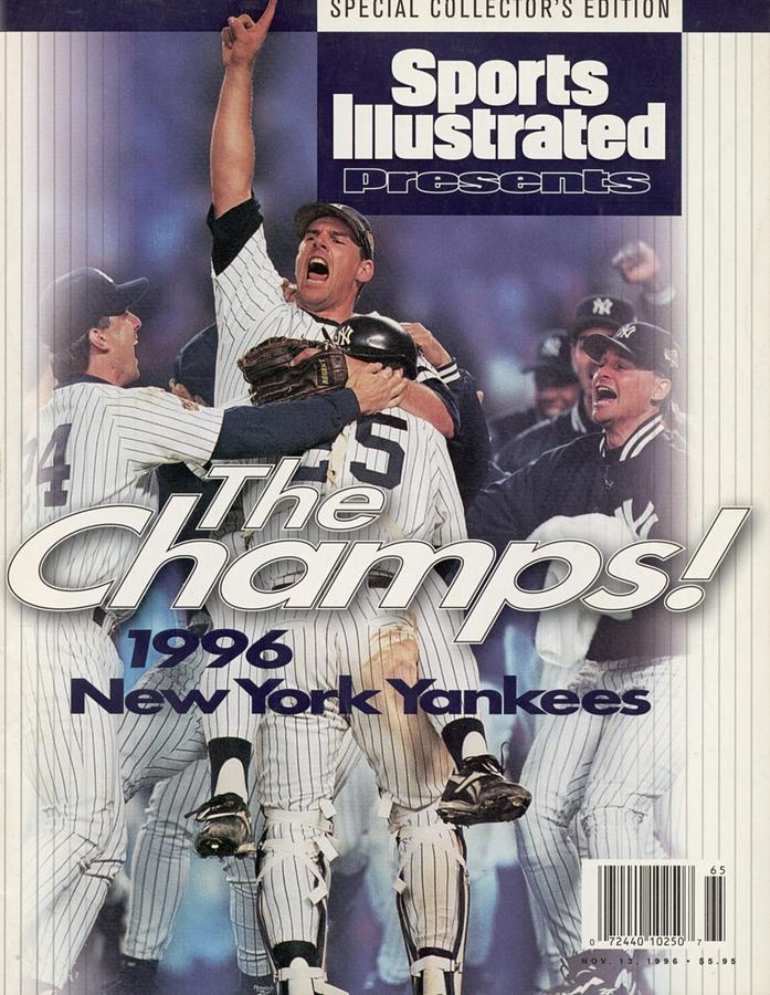 New York Yankees John Wetteland, 1996 World Series Sports Illustrated Cover Photograph by Sports Illustrated