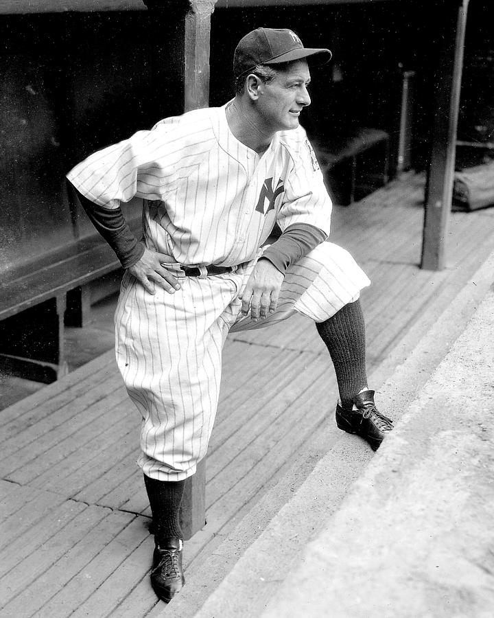 New York Yankees Lou Gehrig Photograph by New York Daily News Archive