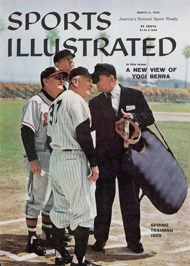 New York Yankees Manager Casey Stengal And Milwaukee Braves Sports Illustrated Cover Photograph by Sports Illustrated