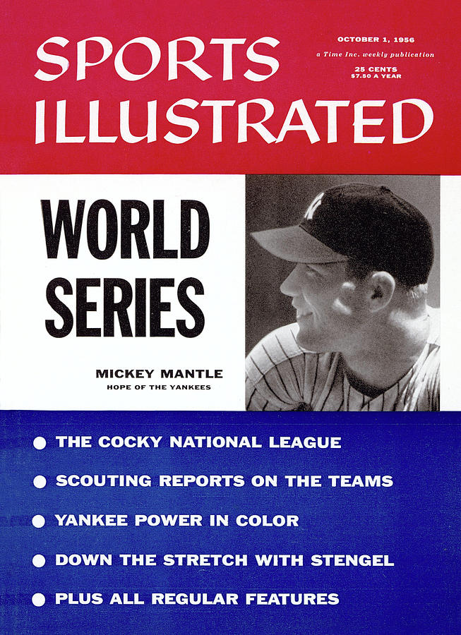 New York Yankees Mickey Mantle, 1956 World Series Preview Sports Illustrated Cover Photograph by Sports Illustrated