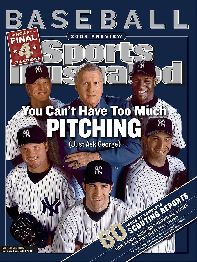 New York Yankees Owner George Steinbrenner, Jose Contreras Sports Illustrated Cover Photograph by Sports Illustrated