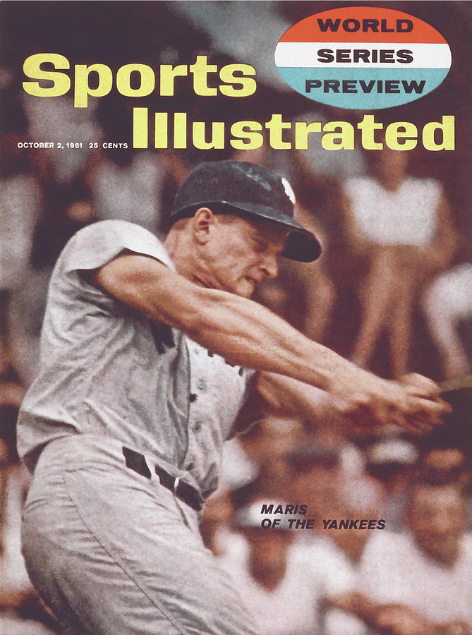New York Yankees Roger Maris, 1961 World Series Preview Sports Illustrated Cover Photograph by Sports Illustrated