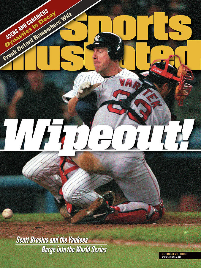 New York Yankees Scott Brosius, 1999 American League Sports Illustrated Cover Photograph by Sports Illustrated
