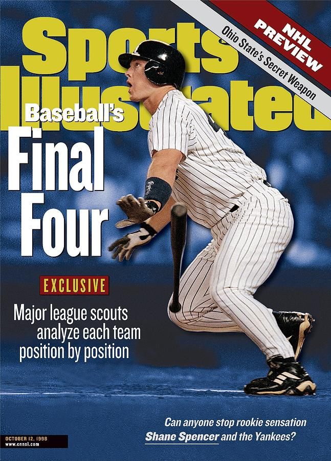 New York Yankees Shane Spencer, 1998 Al Division Series Sports Illustrated Cover Photograph by Sports Illustrated